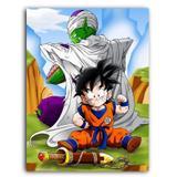 Placa Decorativa MDF Ambientes 30 cm x 20 cm - Dragon Ball Z Super Gohan Piccolo (BD62) - Bd net collections