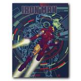 Placa Decorativa MDF Ambientes 30 cm x 20 cm - Iron Man Os Vingadores The Avengers (BD02) - Skin t18