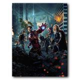 Placa Decorativa MDF Ambientes 30 cm x 20 cm - Os Vingadores The Avengers (BD01) - Skin t18