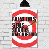 Placa Decorativa MDF Objetivo - Quartinhos