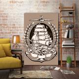 Placa Decorativa Navio - 30 cm x 40 cm - Stickdecor