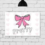 Placa Decorativa para Quarto de Menina Princesa Laço - Quartinhos