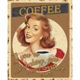 Placa Decorativa Retro Coffee 24x19cm DHPM-165 - Litoarte