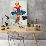 Placa Decorativa Vintage Pin Up Dance - 30 cm x 40 cm - Stickdecor