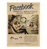 Placa Facebook Vintage - Tecnolaser
