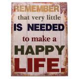 Placa Happy Life - Trevisan