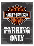 Placa Harley Parking Only - Tecnolaser