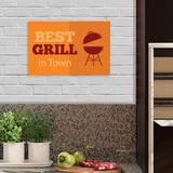 Placa Horizontal em PSAI  Churrasco - 0,30 x 0,20 - Best Grill - Duhelu