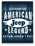 Placa Jeep America - Tecnolaser