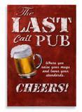 Placa Last Pub - Tecnolaser