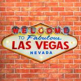 Placa Led Retrô Las Vegas - Versare anos dourados