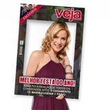 Placa Moldura Revista Veja Tam. M (41x62)cm - Estrutura festas