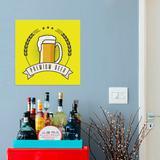 Placa Quadrada em PSAI  Boteco - 0,20 x 0,20 - Premium Beer - Duhelu