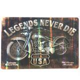 Placa Refletiva 3d De Metal Legends Never Die - Versare anos dourados
