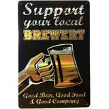 Placa Refletiva 3d De Metal Support Your Local Brewedy - Versare anos dourados