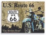 Placa Route 66 - Tecnolaser
