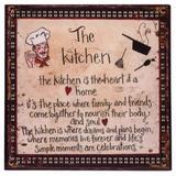 Placa The Kitchen - 30cm x 30cm x 1cm - Trevisan Concept