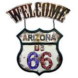 Placa Welcome Arizona Us 66 - Versare anos dourados