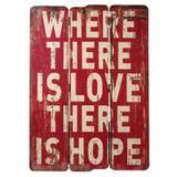 Placa Wood Hope - 70cm x 50cm x 3cm - Trevisan Concept