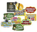 Plaquinhas Divertidas p/ Formatura - Festa maluca