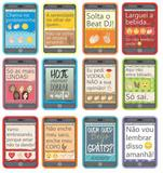 Plaquinhas divertidas para festas - celular - Marques cartões