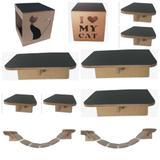 PlayGroud Para Gatos Nichos com Carpete - Pet in box