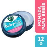 Pomada Vick Baby Rub Calmante para Bebês 12g