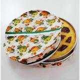Porta Assadeira Redondo Forrado com Plástico - Abobora - Recanto da costura