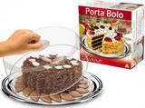 Porta bolo em inox tamanho medio (mpob-002) - dinox