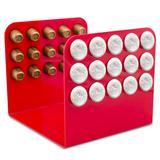 Porta Cápsula Acrílico - Compatível com Cápsulas Nespresso - Vermelho - 30 un.