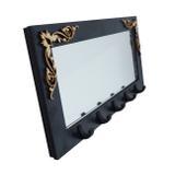 Porta Chaves Arabescos Espelho Preto - Crie casa