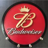 Porta Chaves Budweiser Em Mdf Tamanho 21 Cm Cerveja - Mundo do militar