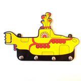 Porta Chaves Decorativo Beatles Submarino Amarelo - Ika