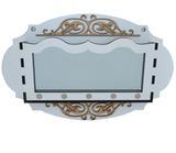 Porta Chaves e Correspondência Oval Branco com Espelho - Crie casa