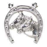 Porta Chaves Forma de Ferradura 2 Pinos Metal 12cm Prestige - Prestige collection