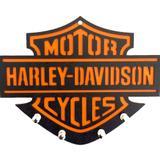 Porta Chaves Mdf Harley Davidson Laranja - Versare anos dourados