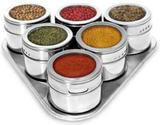 Porta Condimento Magnético Visor Aço Inox Imã Pimenta Sal - Unica