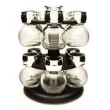 Porta Condimentos com Base Giratória Globe com 13 Peças - Yoi