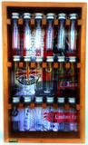 Porta condimentos e temperos de madeira maciça com 18 tubos pet - Container decoração
