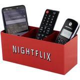 Porta Controle Remoto Caixa Organizadora Nightflix Vermelha - Gton