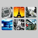 Porta copo  imã decorativo, criativo, colorido e descolado - Kit Especial Paris/França  6 unidades - Colours  creative photo decor