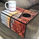 Porta Copos Esteira Para Sofa Adesivado Outono - Dcasa