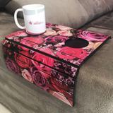 Porta Copos Esteira Para Sofa Adesivado Rosas - Dcasa