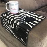 Porta Copos Esteira Para Sofa Adesivado Zebra - Dcasa