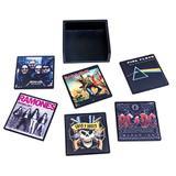 Porta Copos Magnético Bandas de Rock - Md relogios