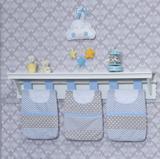 Porta Fraldas de Varão 03 peças Chuva de Amor Azul - Bruna baby