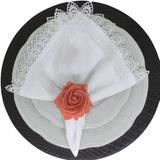 Porta Guardanapo Botão de Rosa EVA (Rosa Envelhecido) - 4 unidades - Maison charlô