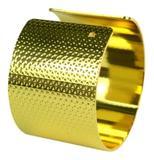 Porta Guardanapo De Metal Redondo Dourado 6 Unidades - Nova