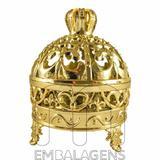 Porta Joia para Lembrancinhas Realeza de Coroa Dourado kit com 12 unid - Rn embalagens