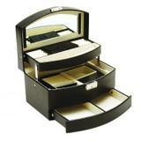 Porta joias de material sintetico preto - Btc decor